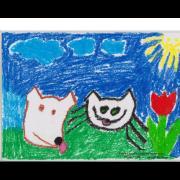 Z výstavy dětských kreseb - únor a březen 2017