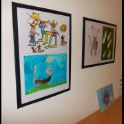 Kresby koček od dětí z MŠ při FN Brno, p.o. Výstava v YMCA Brno  - foto Vladimír Michal